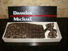 BRANDON MICHAEL Men's 100% Silk Bow Tie & Cummerbund One Size Fits All 27-48