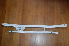 More details for infantry officers white buff leather sword belt c1881-1900