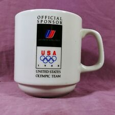 cc Coffee Mug Cup United Airlines Official Sponsor of the USA 1988 Olympic Team