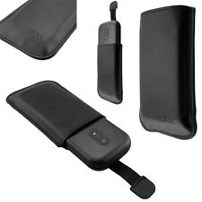 caseroxx Slide-Pouch for Doro 6040/ 6041/ 6060/ 6061 in black made of faux leath