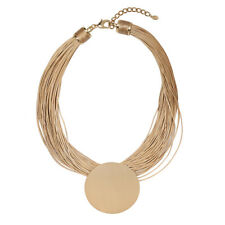 New Fashion Statement Designer  Necklace Big Circle taupe