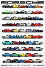 Porsche 911 50 Years of Model Evolution advert promo art poster