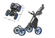 CaddyTek 4 Wheel Golf Push Cart - One V8 1-Click Compact Caddy BLUE PreOrder