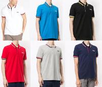 FILA Mens Cotton Short Sleeve Vintage Polo Shirt T shirt top Tee S M L XL 2XL