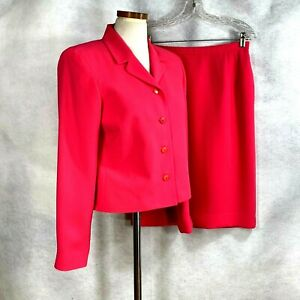 Pendleton Womens Electric Orange Skirt Suit sz 6-10