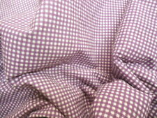 New King Size Ralph Lauren Flat Top Sheet in Purple Small Gingham Check