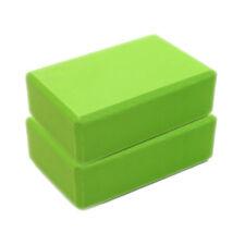 2pc Yoga Block Pilates EVA Brick Foam Stretch Fitness Sport Gym Green Color