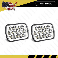"2x 45W 6"" X 7"" LED Headlight Replacement Lamp DRL for Jeep Cherokee XJ Trucks"