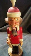 Vintage Hand Carved hand painted Wood Santa Nutcracker