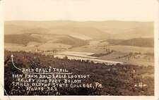State College Pennsylvania Bald Eagle Lookout Real Photo Antique Postcard K62699