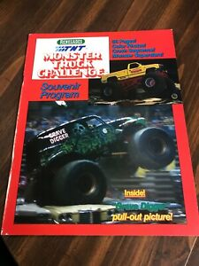 Vintage 1989 Renegades TNT Monster Truck Challenge Souvenir Program unusd poster