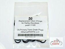 50 Harley Davidson replacement Viton O-Ring Oil Trans Primary Drain Plug #11105
