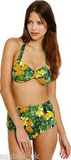 Womens Ex-Urban Outfitters High Waisted Vintage Bikini UK SELLER - TROPICAL