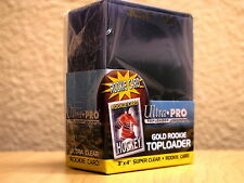 Ultra Pro Gold Rookie Card Toploader 3x4 Super Clear - 25 Count - NEW