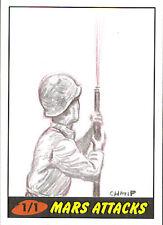 Mars Attacks Heritage Sketch Card: Peter Chan