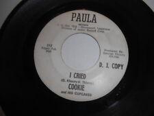Cookie & His Cupcakes, I Cried, Paula Promo 45, Vg+