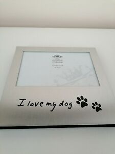novelty picture frames THE LEONARDO COLLECTION I LOVE MY Dog Pet Keepsake BIN