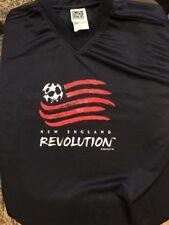 New England Revolution Soccer MLS Sz Large Mens Short Sleeve Shirt Blue