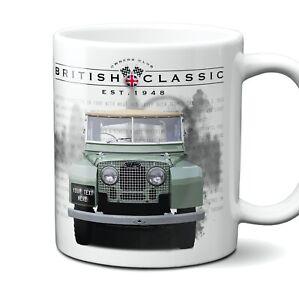 Land Rover Series 1 Mug Personalised Number Plate Ceramic 11oz Gift Box