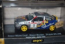 Onyx 1/43 XCL 99014 RENAULT MEGANE Coupe Diecast Car 24h Spa 1998 Ickx