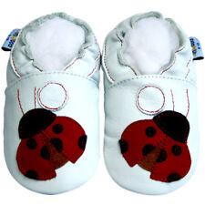 Freeship Littleoneshoes(Jinwood) Soft Sole Leather Baby Shoes LadybugRed 18-24M