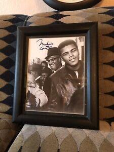 Signed Muhammad Ali / Malcom X 8x10 Photo Boxing