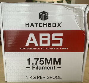 Hatchbox, 3D Printer Filament ABS 1.75mm True White 1KG