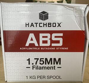 Hatchbox, 3D Printer Filament ABS 1.75mm True White 1KG