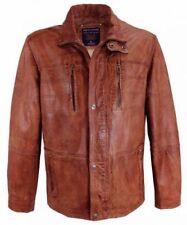 Herrenjacken & -mäntel aus Leder Reißverschluss und normaler Größe