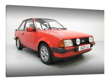 Ford Escort XR3i - 30x20 Inch Canvas Art - Framed Picture Poster Print