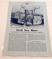 VICKERS ARMSTRONG CIVIL SEA OTTER FLYING BOAT MANUFACTURERS SALES BROCHURE 1946