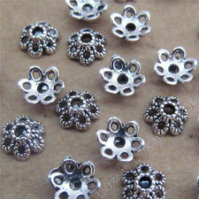 100pcs Tibetan Silver 6mm Flower Bead Caps Jewellery Findings Craft /749