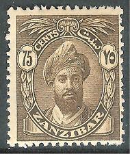 Zanzibar 1926 sepia 75c mint SG309