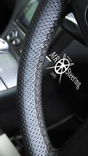 FOR RENAULT MEGANE I 95-03 PERFORATED LEATHER STEERING WHEEL COVER DOUBLE STITCH