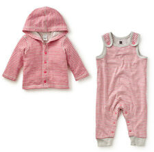 Tea Collection Baby Girl Set size 6-12 months romper, hoodie reversible top