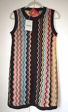 MISSONI for Target L Womens Colore Zig Zag Sleeveless Sweater Dress ON HAND NWT
