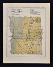 1884 Minnesota Geology Map - Clay County  Barnesville Olyndon Uskoda Moorhead MN