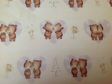 2 Sheets Gift Wrapping Paper WEDDING DAY Congratulations Engagement Cute Bears