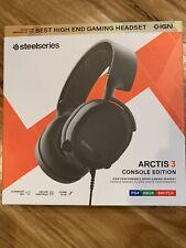 SteelSeries Arctis 3 Black 7.1 Surround Gaming Headset Sealed Best Mic New