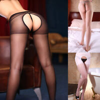 Women-Bodystocking-Sexy-Lingerie-Open-Crotch-Collants-Pantyhose-Costume-Femme