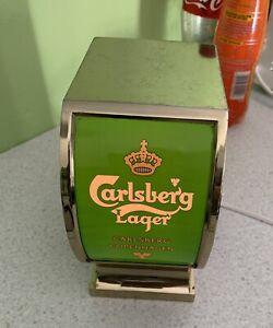 Vintage 1980s Carlsberg Lager Advertising Light Bar Top Pump Head.....working.