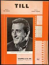 rare TILL BY CARL SIGMAN CHARLES DANVERS TONY BENNETT COVER - SHEET MUSIC - 1957