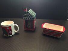 NEW Yankee Candle Holiday Christmas Cookie House-Xmas Cat Mug - mini loaf  pan