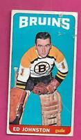 1964-65 TOPPS TALL # 21 BRUINS ED JOHNSTON GOALIE FAIR CARD (INV# J0056)