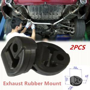 2Pcs Car Refit Rubber Exhaust Tail Pipes Mount Bracket Hanger Holders Insulator
