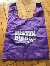 RARE Justin Bieber My World Tour 2011 Purple Nylon Tote  Bag V.I.P.