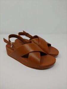 Fitflop Women's 7 Light Tan Lulu Back Strap Sandals