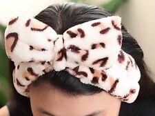 Hairband spot wrap headband bath shower Spa pajamas party Leopard spot pattern
