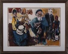 MOSHE GAT (Israeli, b. 1935) Middle Eastern old Man in Jerusalem Bazzar