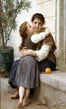Old Masters Vintage Print A Little Coaxing - Bouguereau